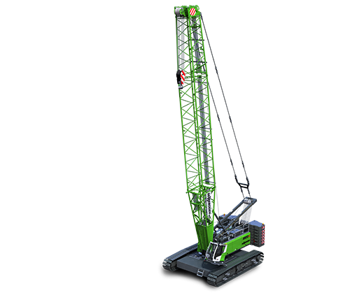 SENNEBOGEN crawler crane lattice boom 5500 G construction site