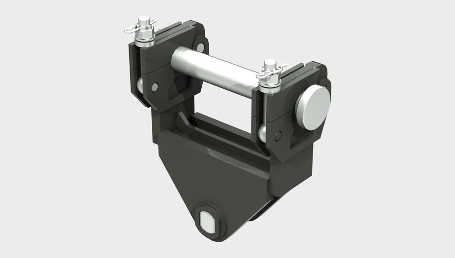SENNEBOGEN quick change systems for material handlers mechanical quick change mounting bracket