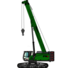 SENNEBOGEN 673 E Crawler pictogram: telescopic crane / telecrane for construction sites and as an alternative to a revolving tower crane