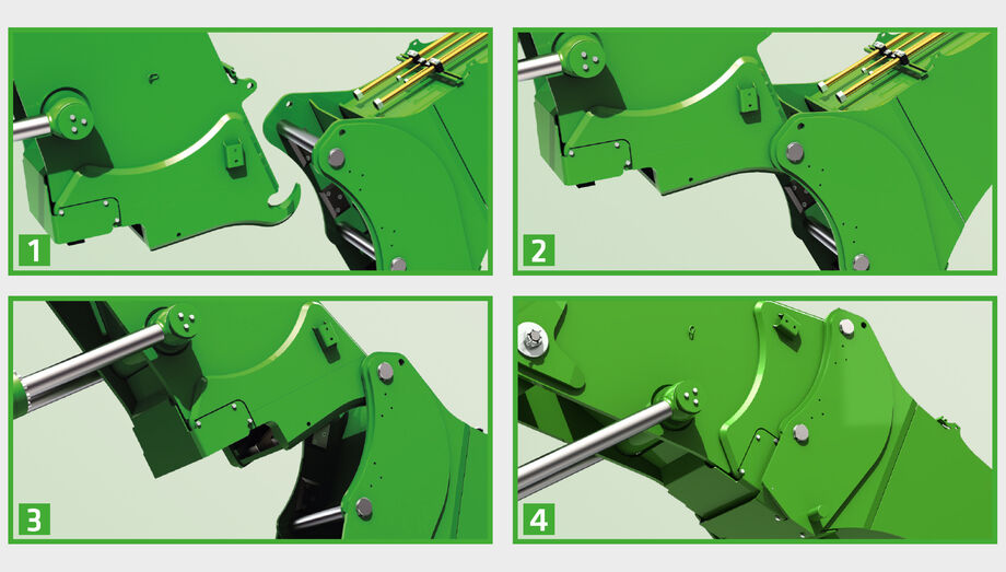SENNEBOGEN 830 E Vario Tool: Change attachments in just a few steps
