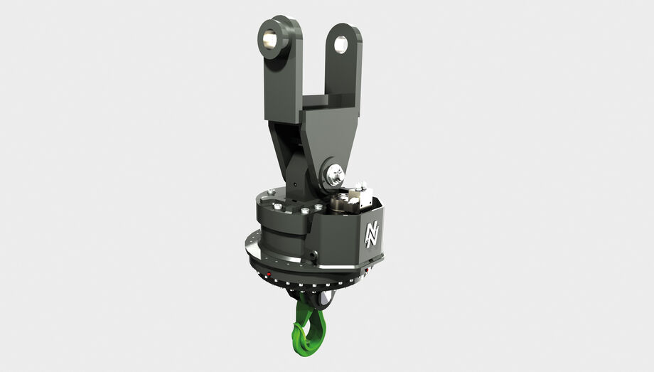 SENNEBOGEN loading hook for material handlers type DKS-LH hydraulic rotation