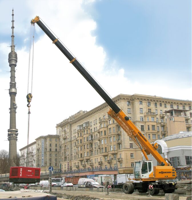 SENNEBOGEN compact and versatile 643 Telecrane Telescopic crane Lifting