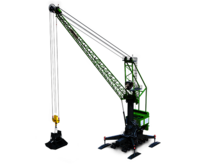SENNEBOGEN mobile port crane 9300 E for port handling with clamshell grab