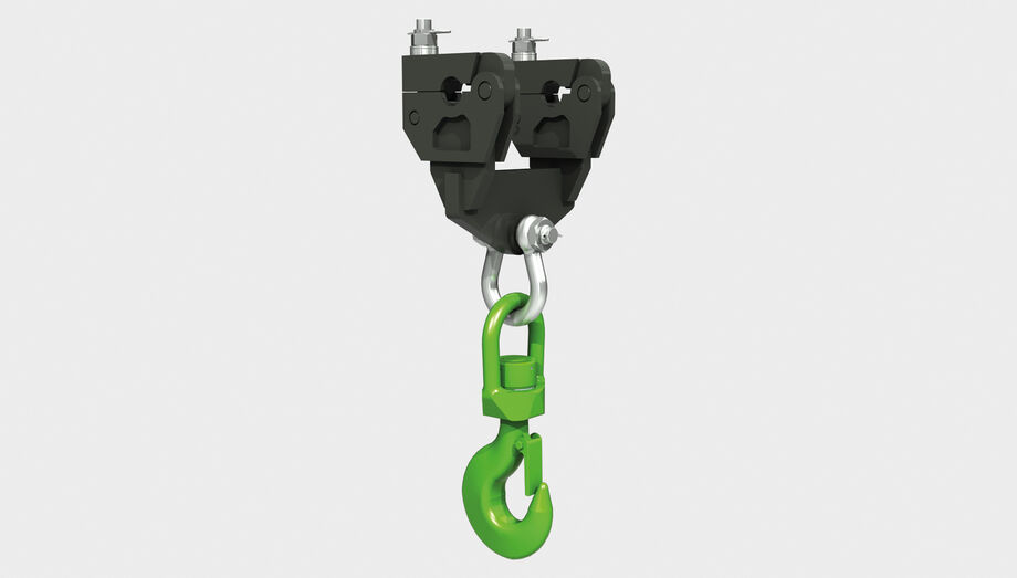 SENNEBOGEN loading hook for material handlers type LH WA free rotation, with quick change mounting bracket