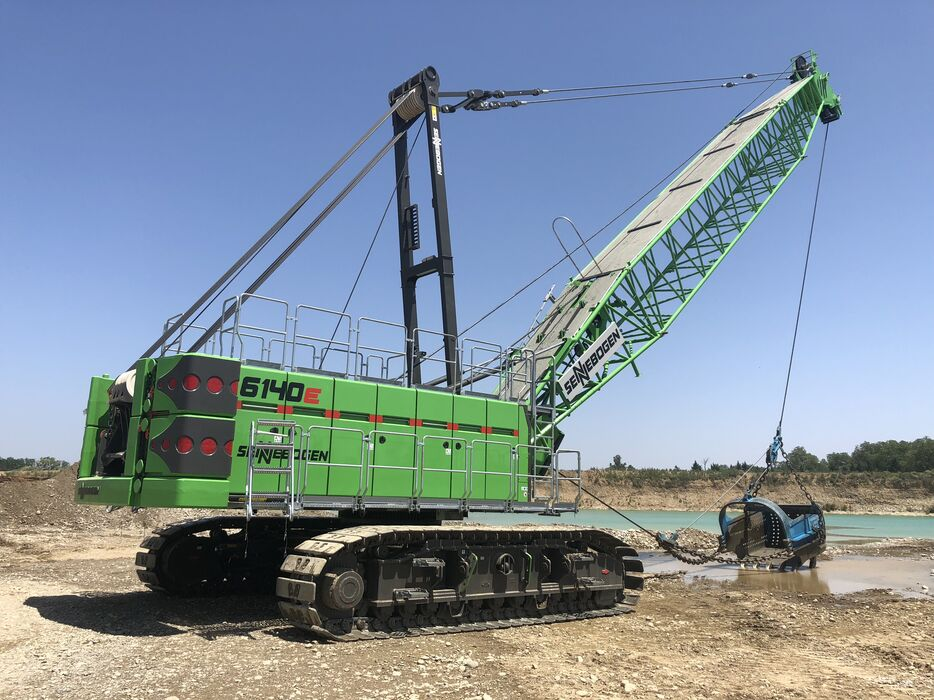 SENNEBOGEN 6140 E HD Crawler Duty cycle crane / Dragline Gravel extraction with dragline bucket / Extraction industry