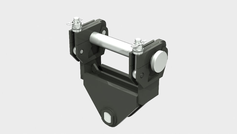 SENNEBOGEN mechanical quick change mounting bracket material handler