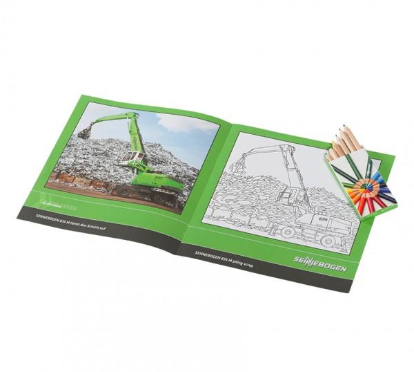SENNEBOGEN Malbuch mit Stiften